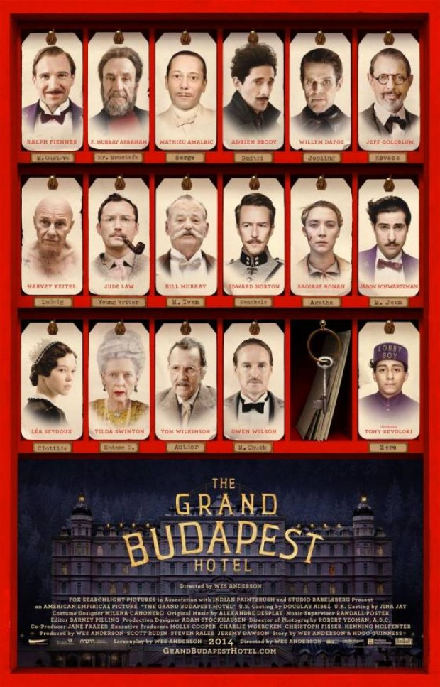 la locandina del film Grand Budapest Hotel