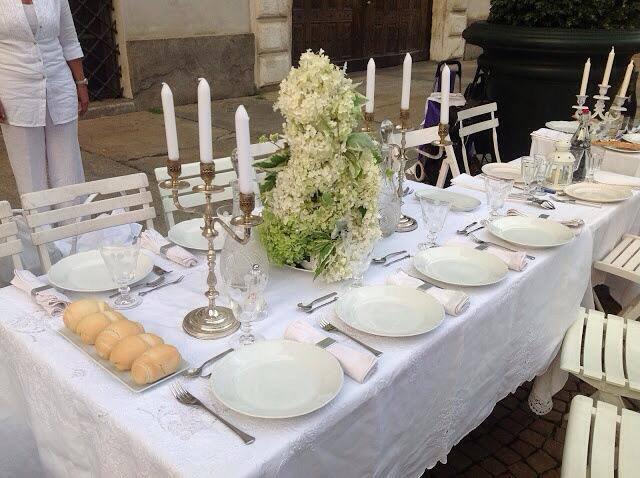 tavolo Cena in Bianco Torino