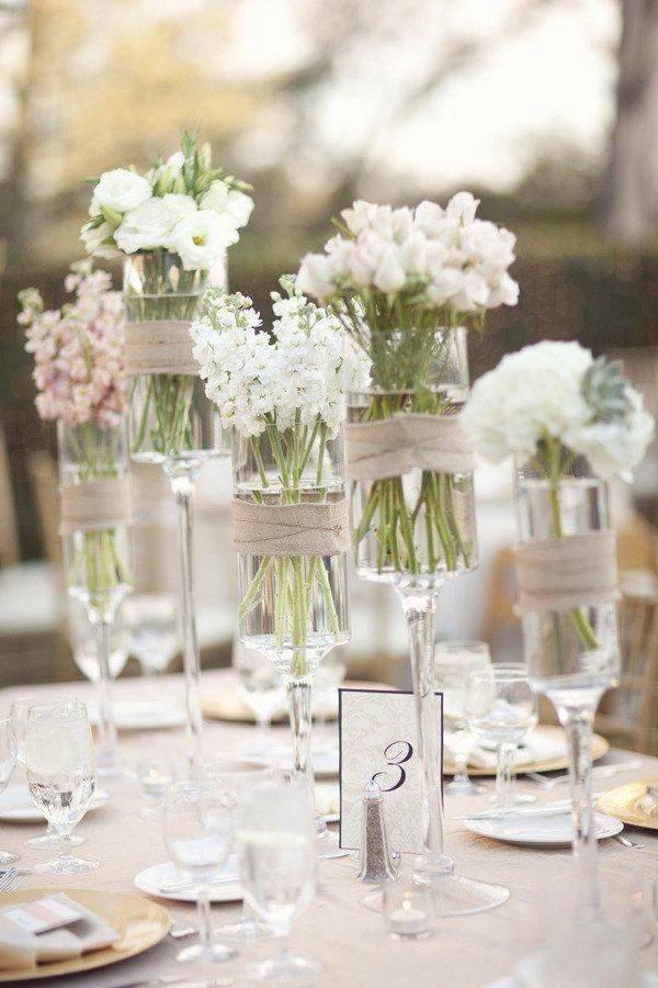 fiori e bicchieri Cena in Bianco Torino