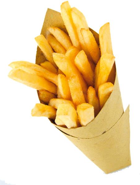 cono carta patatine