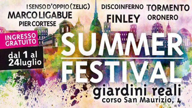 I festival estivi di luglio dell'estate torinese