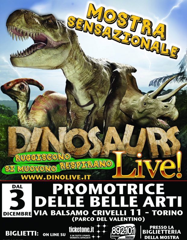 I dinosauri prendono vita a Torino con Dinosaurs live