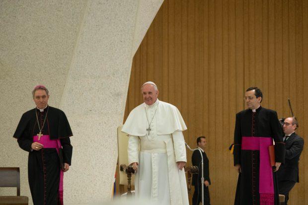 Papa Francesco - udienza per l'EdC