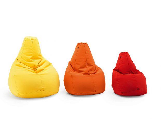 poltrona sacco colorata