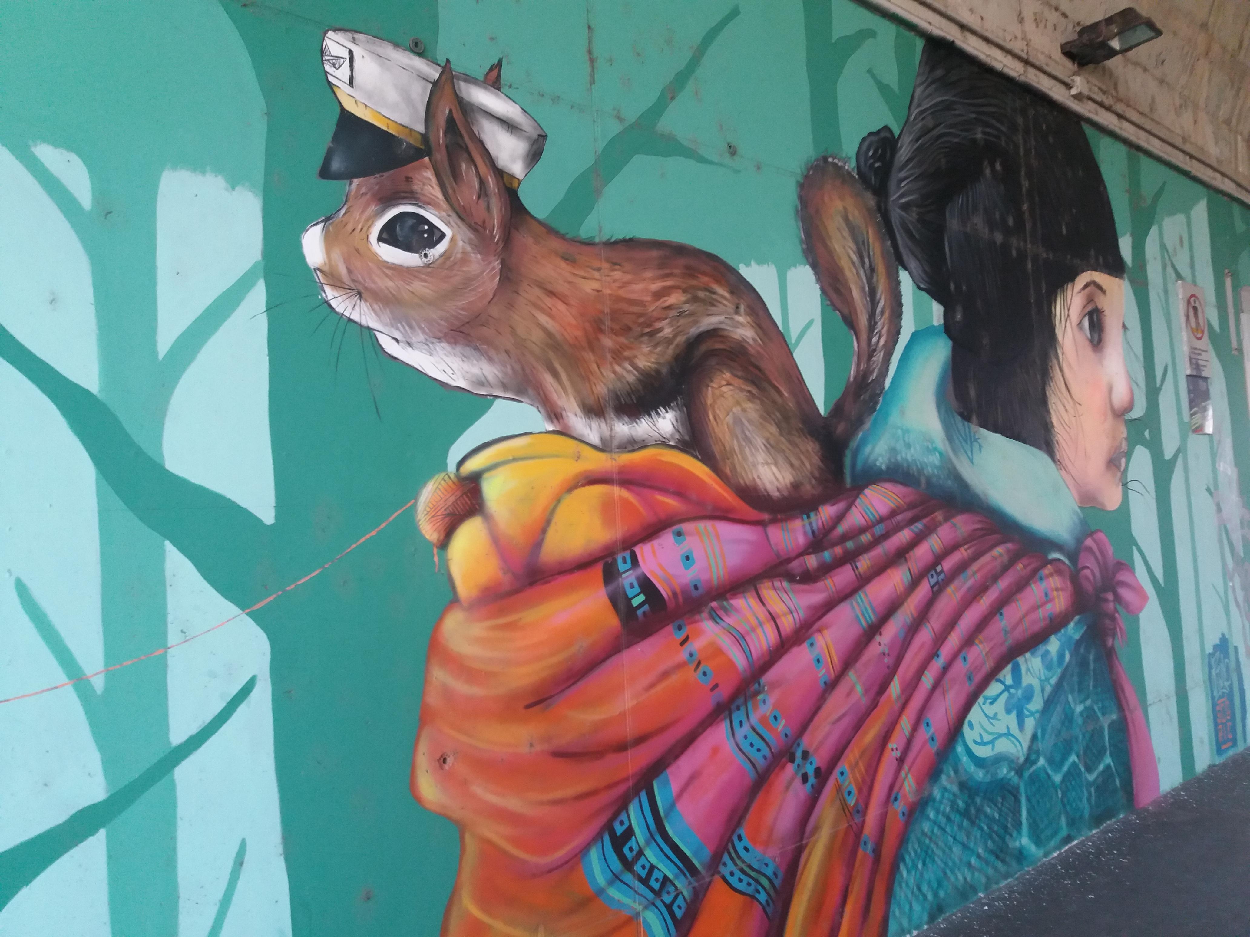 murales scoiattolo a Torino Stura